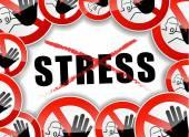 No stress concept — Stock Vector