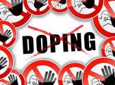 No doping abstract concept — Stock Vector