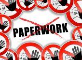 No paperwork abstract concept — Stock Vector