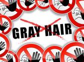 No gray hair — Stock Vector