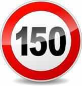 Señal de límite de velocidad — Vector de stock