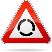 Signo rotonda — Vector de stock