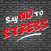 No stress graffiti — Stock Vector