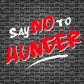 No hunger graffiti — Stock Vector