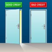 Good and bad credit — Stock Vector
