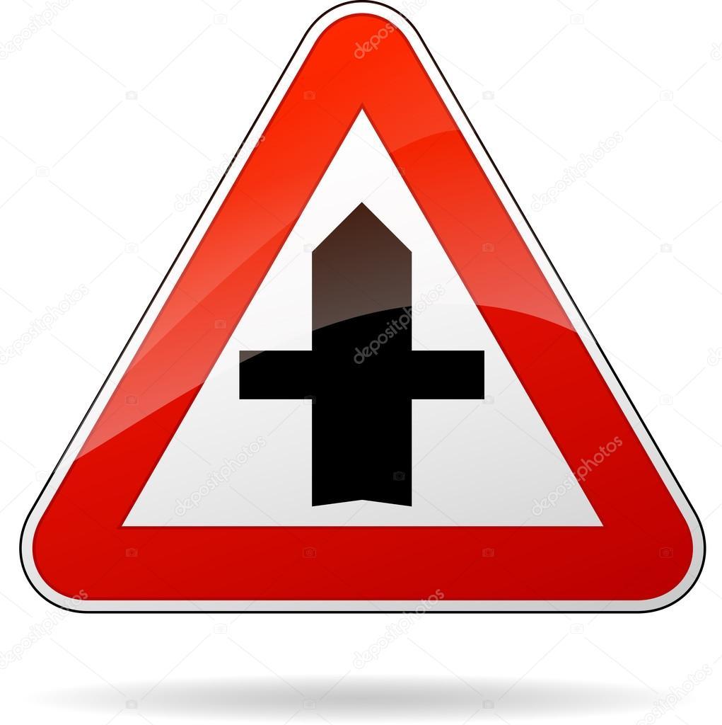 panneau de signalisation de priorit image vectorielle nickylarson 59194733. Black Bedroom Furniture Sets. Home Design Ideas