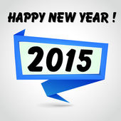Šťastný nový rok modré origami — Stock vektor