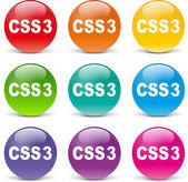 Css icons — Stock Vector