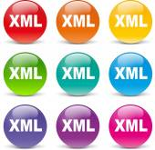 Xml icons — Stock Vector