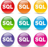 Sql icons — Stock Vector