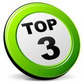 Top three icon — Stock Vector