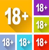More eighteen icons — Stock Vector