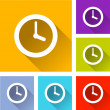 Time icons — Stock Vector #64315679
