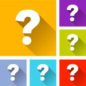 Questions icons — Stock Vector