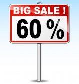 Big sale road sign — Stock Vector