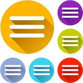 Iconos del menú web — Vector de stock