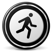 Run icon with metal ring — Stock Vector