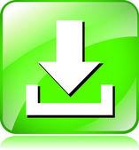 Gröna nedladdning ikon — Stockvektor