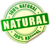 Natural label — Stock vektor