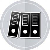 Binders sticker icon — Stock Vector