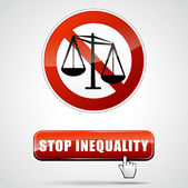Stop inequality — Stock Vector