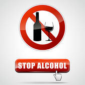 Stop alcohol — Stock Vector