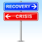 Recovery or crisis choice — Stock Vector