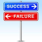 Success or failure choice — Stock Vector