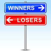 Winners or losers choice — Stock Vector