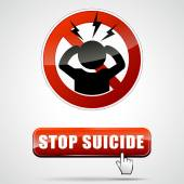 Stop suicide sign — Stock Vector