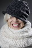 Cool stylish winter woman portrait — Stock Photo