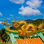 Golden dragon statue — Stock Photo #70824263