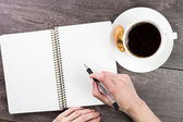 Notes for a cup of coffee break — Stock Photo