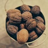 Bowl with walnuts — Stock Photo