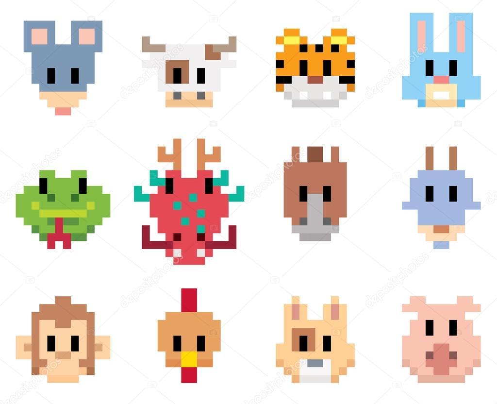 Пиксельные животные
