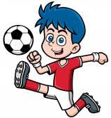 Soccer player — Stock Vector