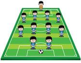 Piłka nożna strategii — Wektor stockowy