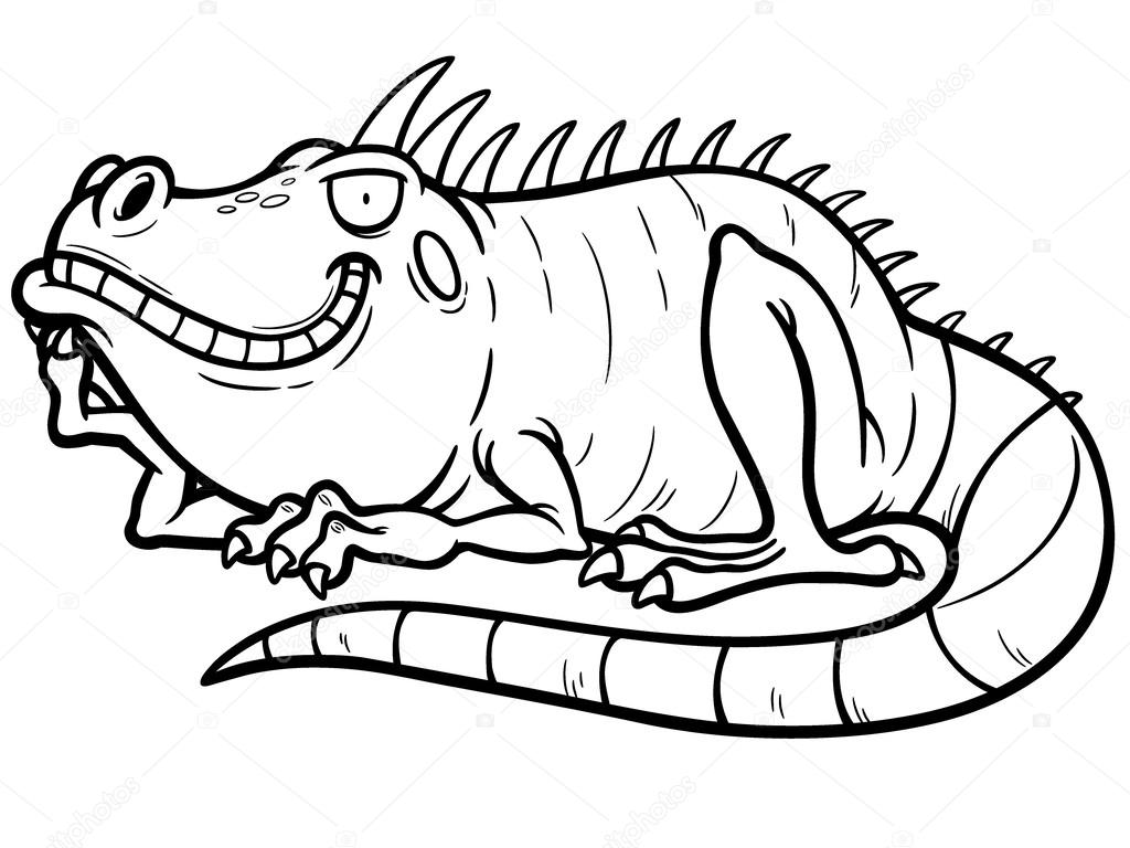 Iguana — vettoriali stock sararoom