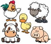 Hayvan çiftliği — Stok Vektör