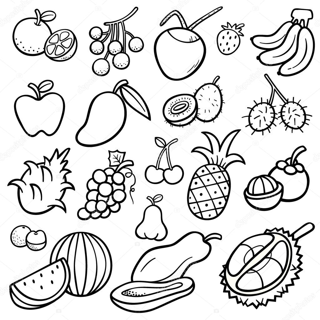 Free Coloring Pages Of How To Draw Fruit Mango
