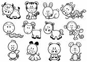 Chinese Zodiac animal — Stock Vector