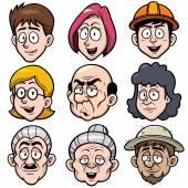 Cartoon face — Stock Vector