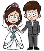 Düğün çifti — Stok Vektör