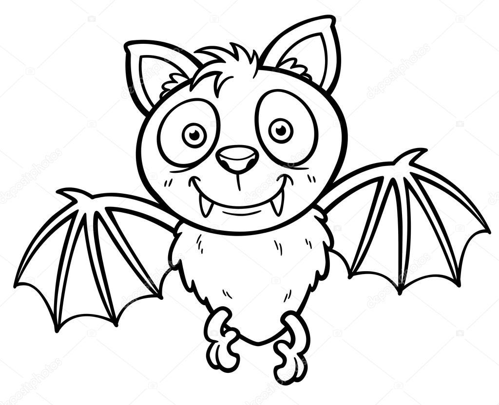 Pipistrello di cartone animato — vettoriali stock