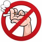 No smoking — Stock Vector