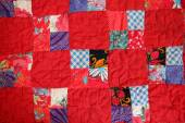Patchwork quilt from the country house interior — Stock Photo