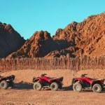 Quad bike safari trip into desert in Egypt — Stock Photo #63426199