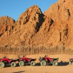 Quad bike safari trip into desert in Egypt — Stock Photo #63426211