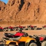 Quad bike safari trip into desert in Egypt — Stock Photo #63426213