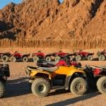 Quad bike safari trip into desert in Egypt — Stock Photo #63426215